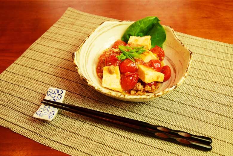 麻婆トマ豆腐