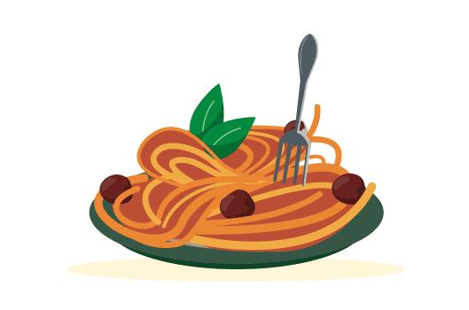 パスタソースと混ぜてイタリア感アップ!